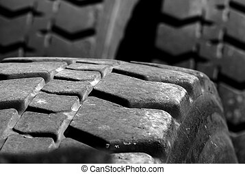 Large Tires - Heavey Equipment Tires with worn tread