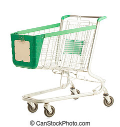 Empty Shopping Cart - Big empty shopping cart.