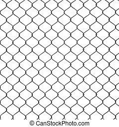 3d Render of a Chain Link Fence