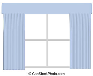 3d Render of a Set of Curtains on a Window