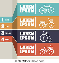 Bicycle infographics over gray background vector...