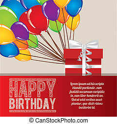 happy birthday over lilac background vector illustration