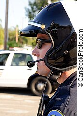 Motor officer - A profile of a motorcycle police officer...