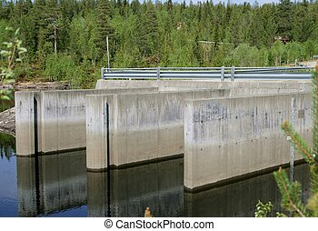 Intake - Water intake by a dam