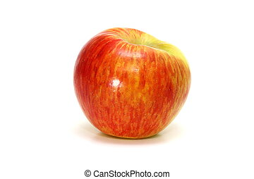 Honey Crisp Apple - Honey crisp apple on white.
