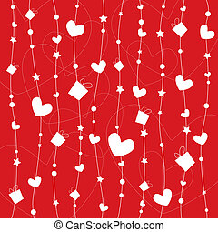 Wrapping paper design for valentines day