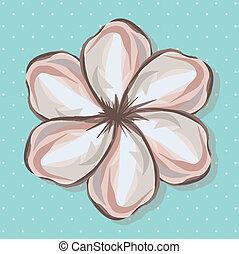 floral design over blue background vector illustration