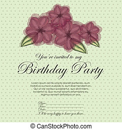 floral invitation birthday - floral invitation birthday over...