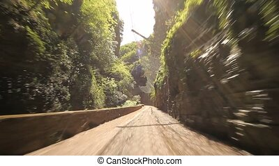 Driving in Canyon - POV - POV video footage in a canyon on...