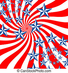 USA - Red White Blue stars and stripes