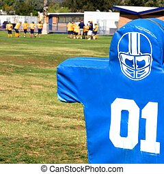 Football Dummy - Blue tackling dummy for football practice...