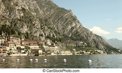 Limone at Lake Garda - city of Limone, at the lake garda in...