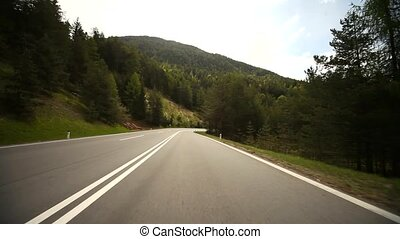 POV driving on highway - video footage of driving on a...