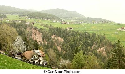 Mountain Village - video footage of a mountain village in...