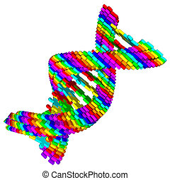 DNA spiral from puzzle
