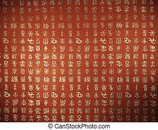 orental background - oriental mixed text