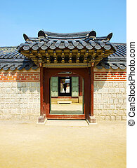 Korea tradition gate door style