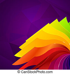 Colorful background with book pages rainbow - Colorful dark...