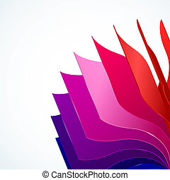 Colorful background with book pages rainbow for your web...