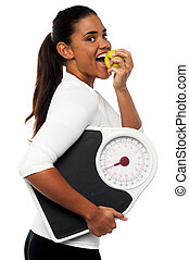 An apple a day keeps the doctor away - Fitness instructor...
