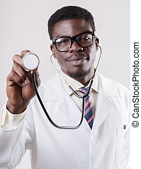 African American doctor -  doctor with phonendoscope