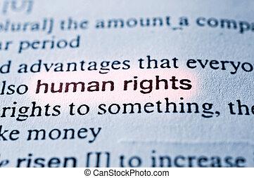 derecho, humano