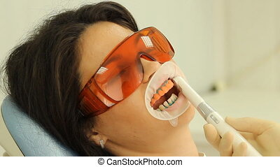 Teeth Whitening. Activation of the