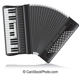 accordion vector illustration isolated on white background
