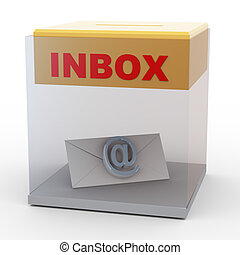 3d email in box
