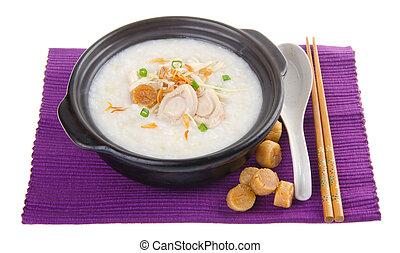 abalone, porridge, arroz, Gruel