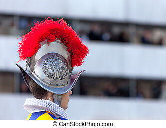 Swiss Guard - Profile of swiss guard in Vatican City.