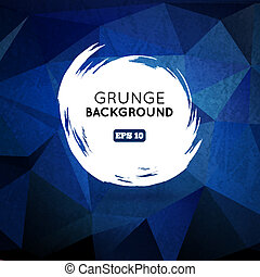 Grunge blue background with splash banner - Grunge blue...