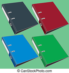 document file folder vector