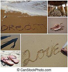 Sand Montage - A sand related montage suitable for printing...