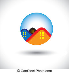 Househome and residence symbol for real estate- vector...