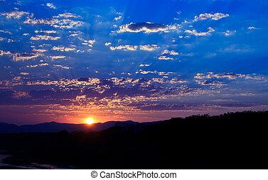 Sky background on sunset.