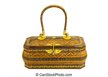 basketry handbag - rattan traditional basketry handbag