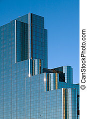 Modern building by Reunion tower in Dallas, TX