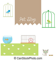 Pet shop - Illustration pet shop
