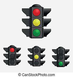 Vector illustration of traffic lights