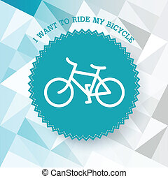 Vintage bicycle illustration. Vector.