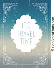 Vintage summer holidays poster template. Vector