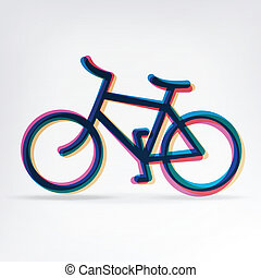 Colorful bicycle icon. Vector, EPS10