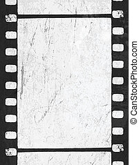 Grunge monochrome filmstrip with space for text . Vector