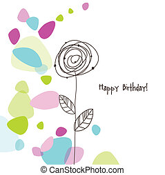 Birthday card - Greeting card with copy space