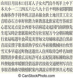 hundreds of kanji with translations - hundreds of vector...