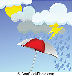 rainy day - vector illustration of a rainy day