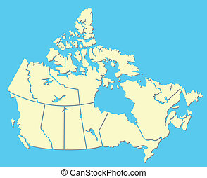 Canadian map - vector map of Canada
