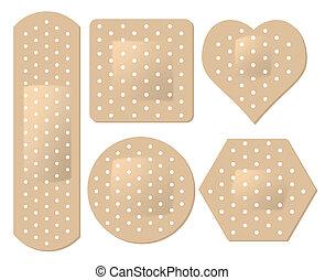 adhesive bandage set - vector adhesive bandage set
