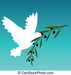 white dove - vector illustration of a white dove
